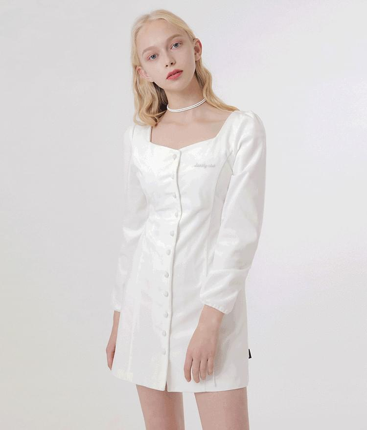 Lonely Square Neck String Dress