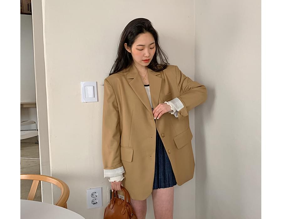 Wait loose button jacket_P 夾克外套