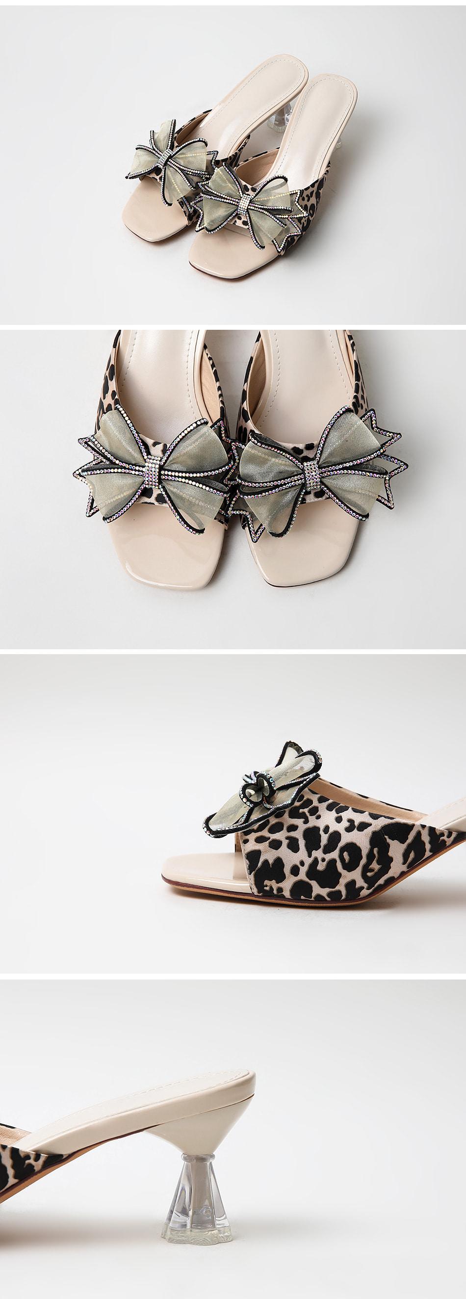 Heapia mules slippers 6cm
