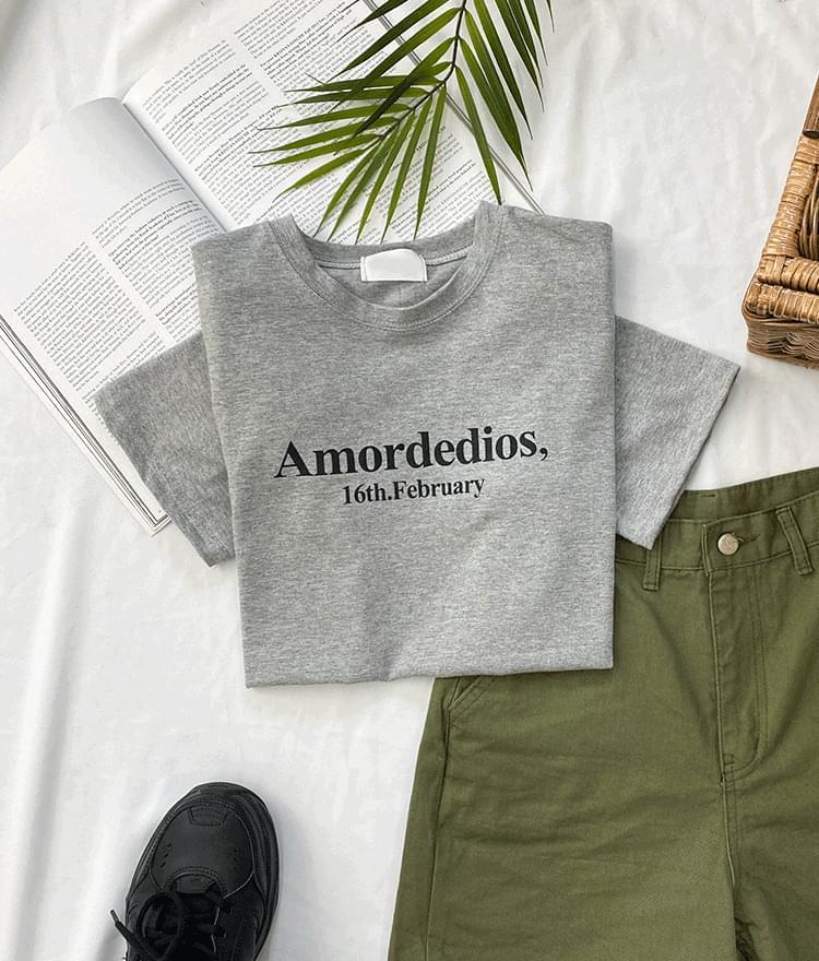 英文字母印花素色T恤(3色)