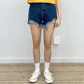 韓國空運 - One Funny Hazy Short Denim Pants 短褲
