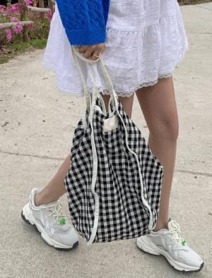 Gobang Check Cotton Eco Bag 帆布包