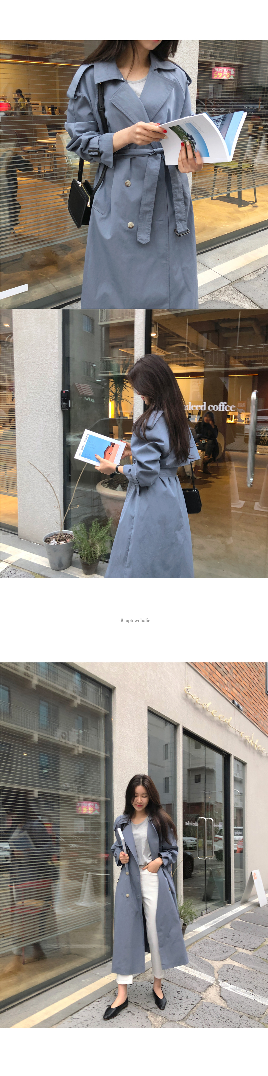Blossom trench coat indie blue