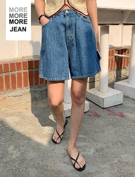 韓國空運 - MORE JEAN_wideshorts 短褲