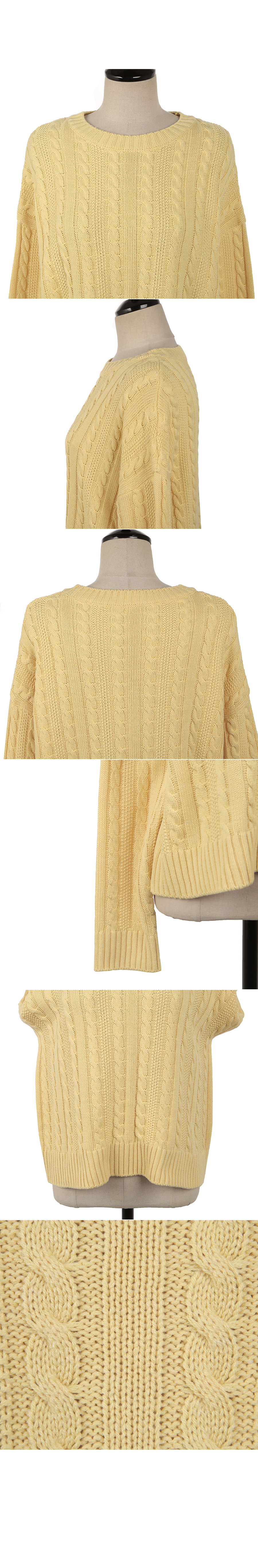 Daily snip knit yellow
