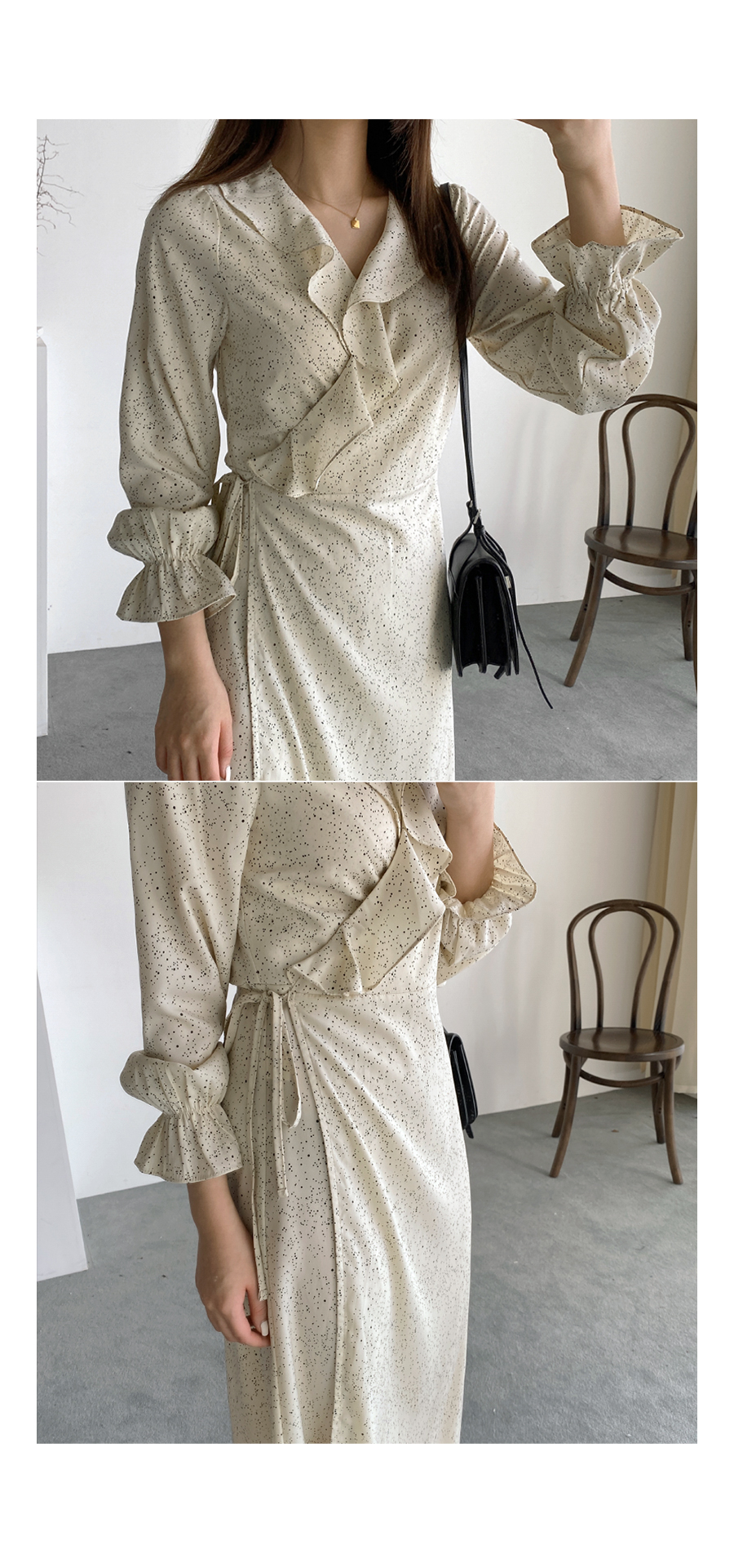 Frill dot wrap ops
