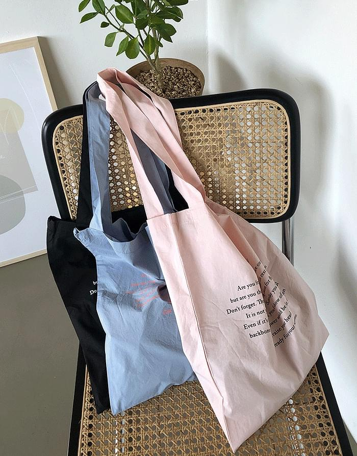 Crispy Lettering Eco Bag 帆布包