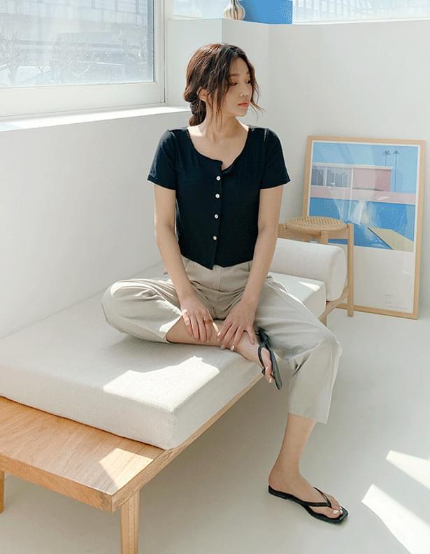 Tapered cotton slacks 長褲