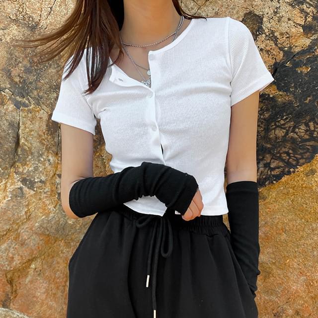 Crop Miz T-shirt & Cardigan