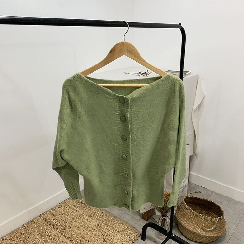 Peyron Boat Neck Stingray Cardigan