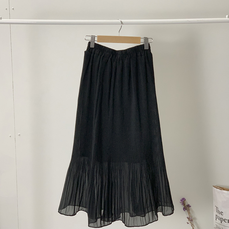 Vince chiffon long skirt