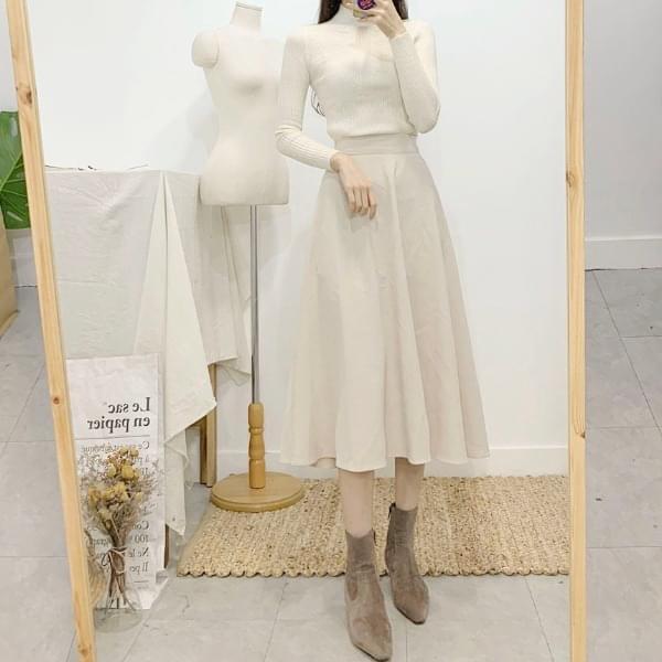 Vernier Flare Long Skirt 8colors