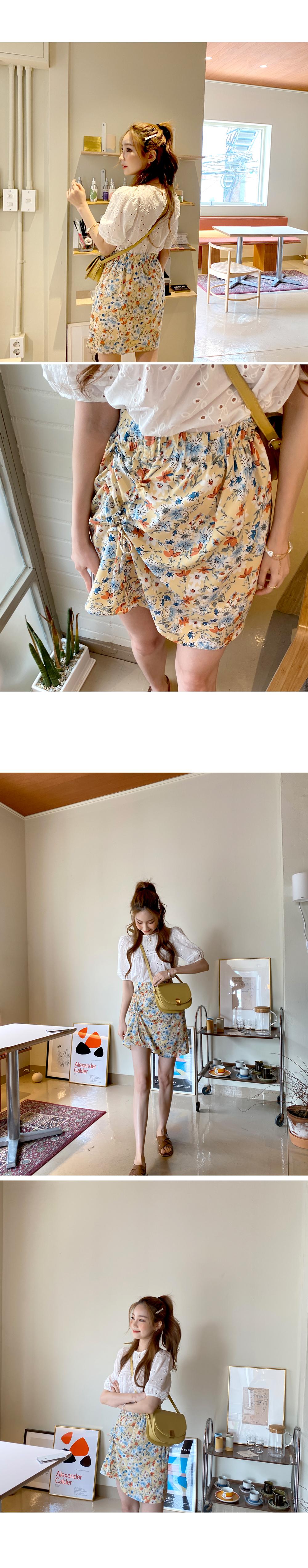 Flower string skirt