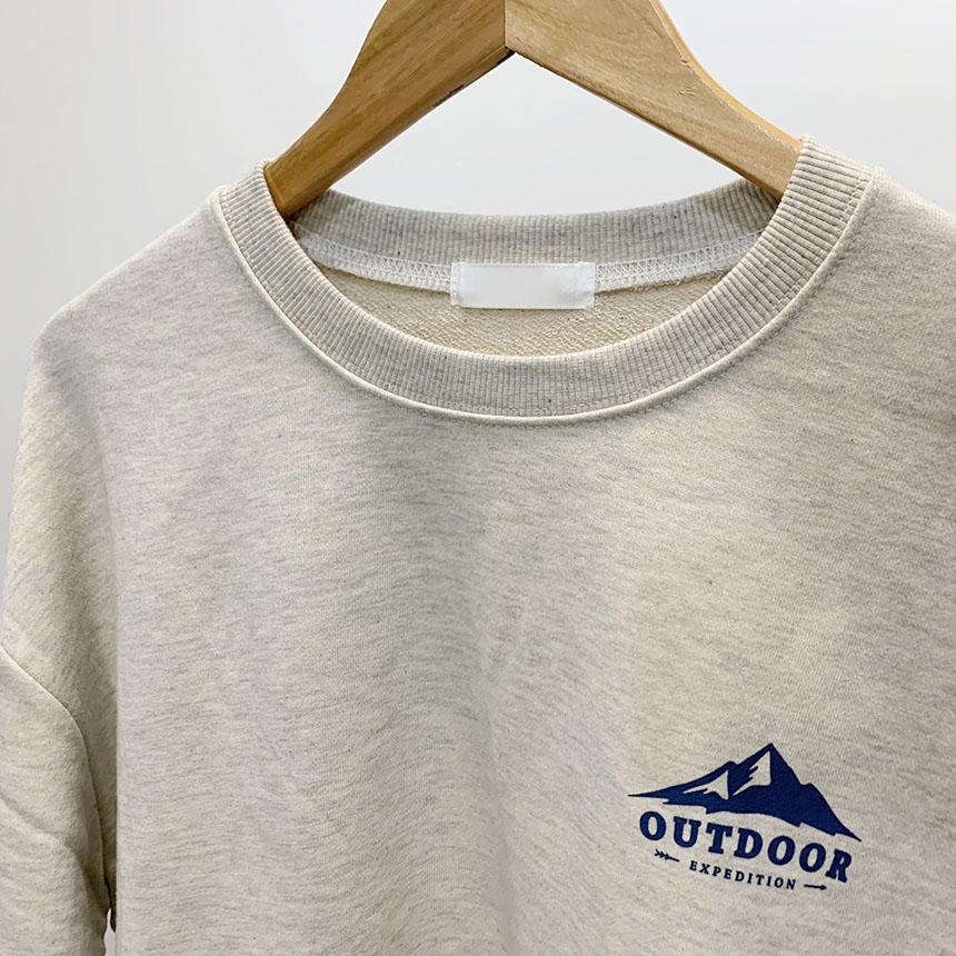Outdoor printing round neck man-to-man