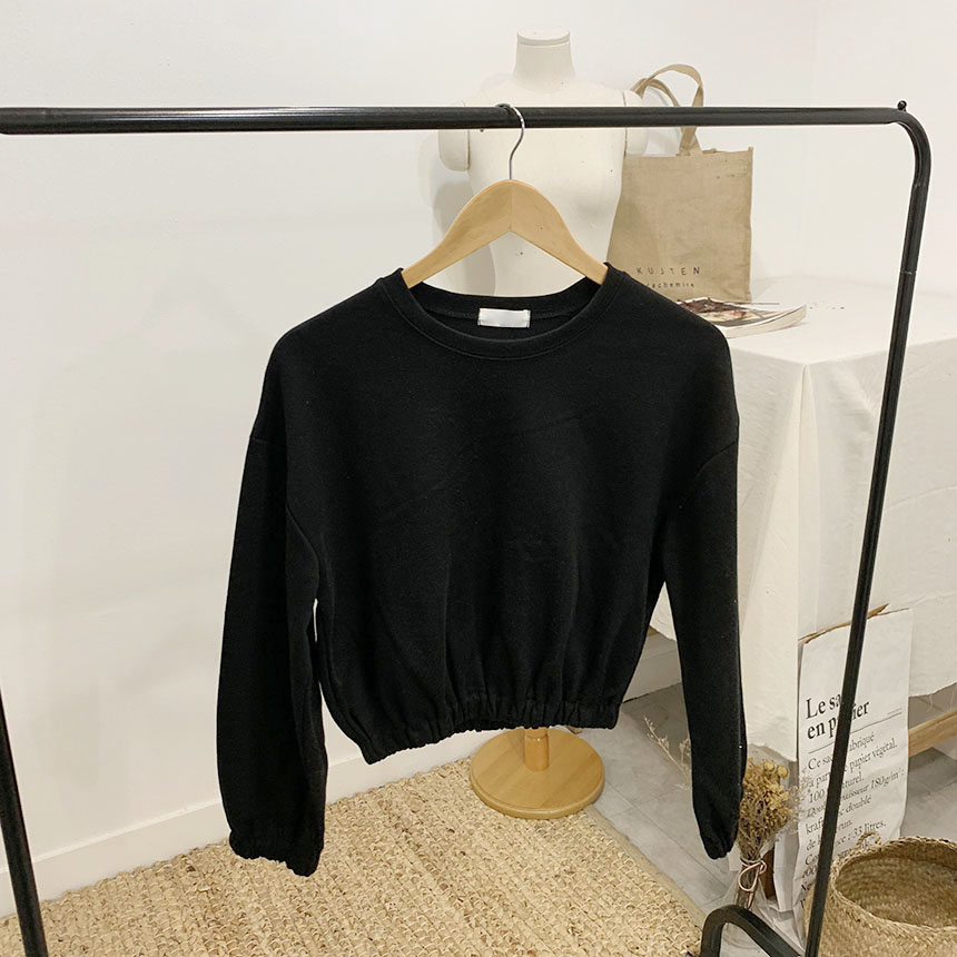 Wingless Crop Banding Round Neck One to One