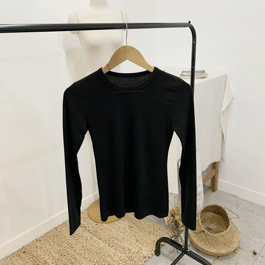 Urban Basic Round Long Sleeve T-Shirt