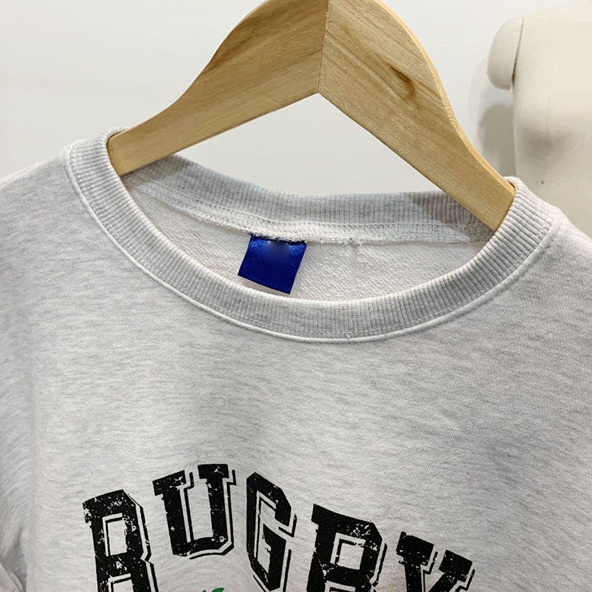 Rugby printing round neck man-to-man