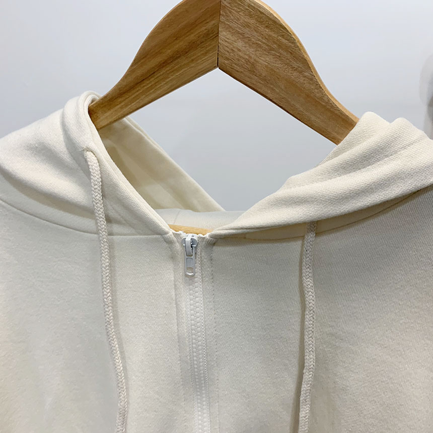 What About Lettering Hood Zip-up