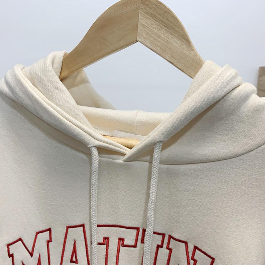 Martins lettering hooded t-shirt