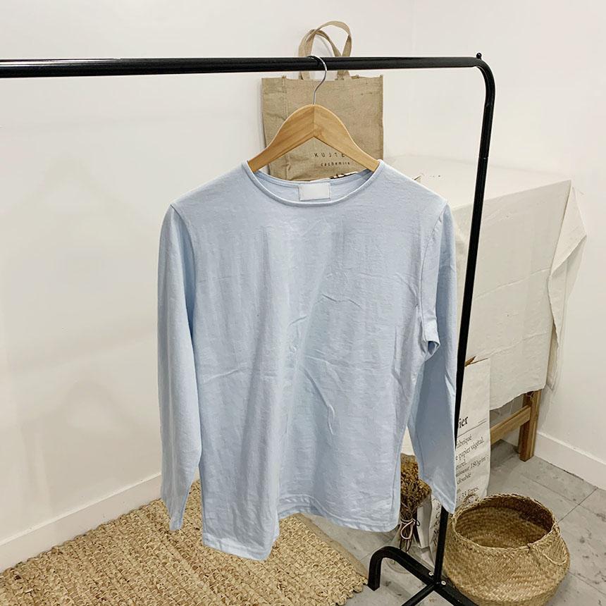 Dodela plain round neck long sleeve t-shirt