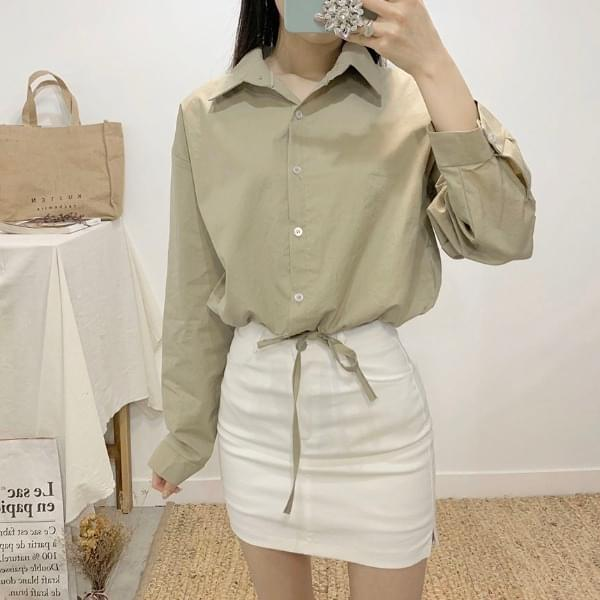 Ticanto string cropped shirt