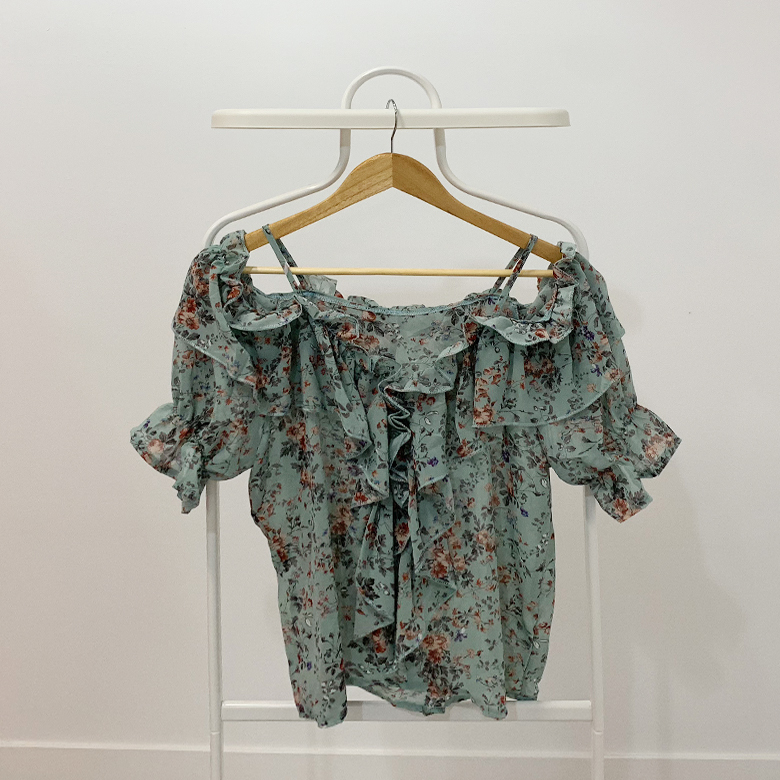 Elysia Flower Off Shoulder Blouse