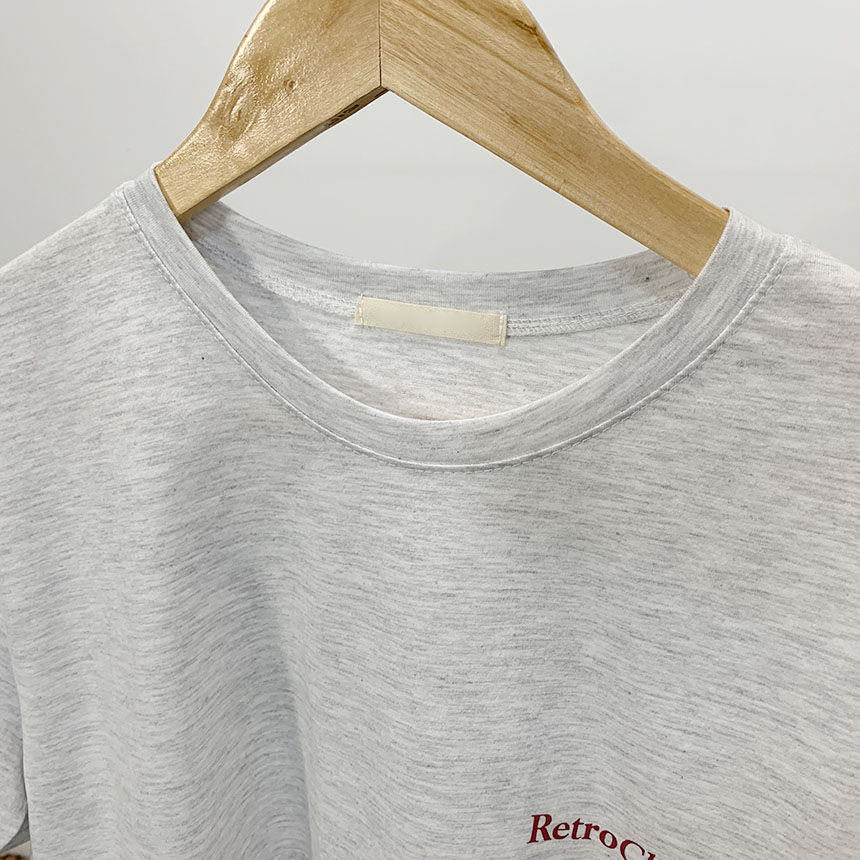 Classic lettering round neck short sleeve t shirt