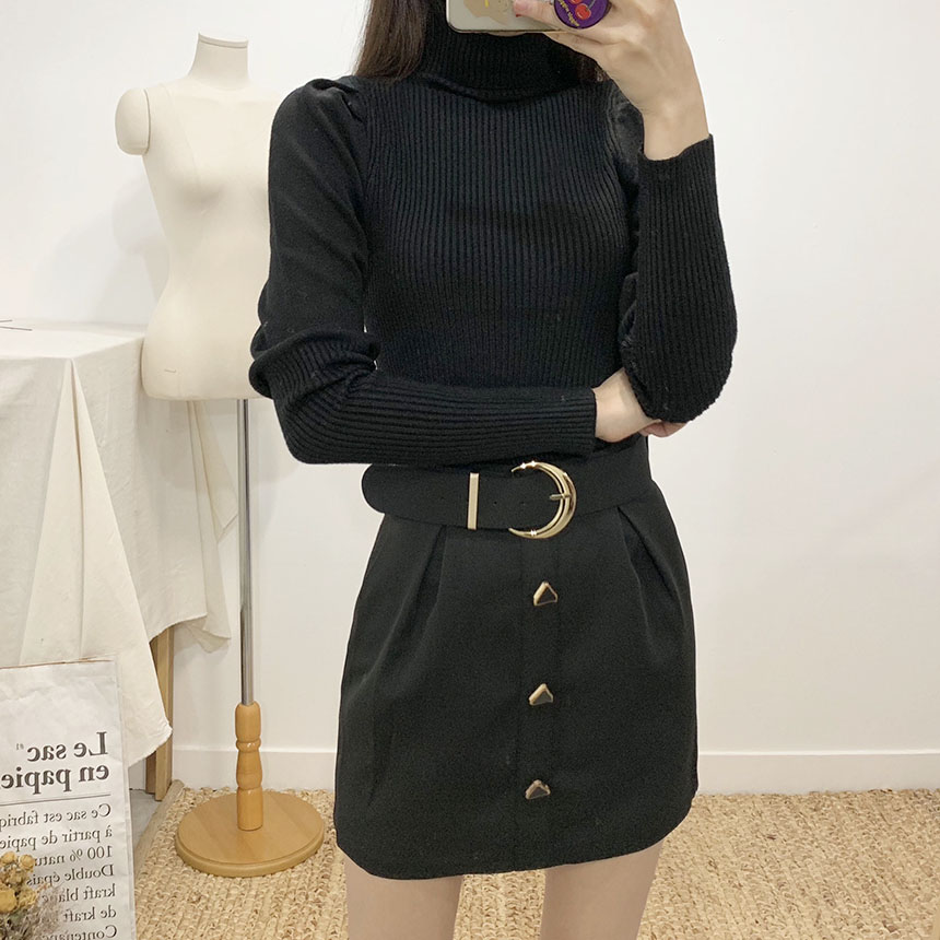 Rich belt mini pants skirt 2colors