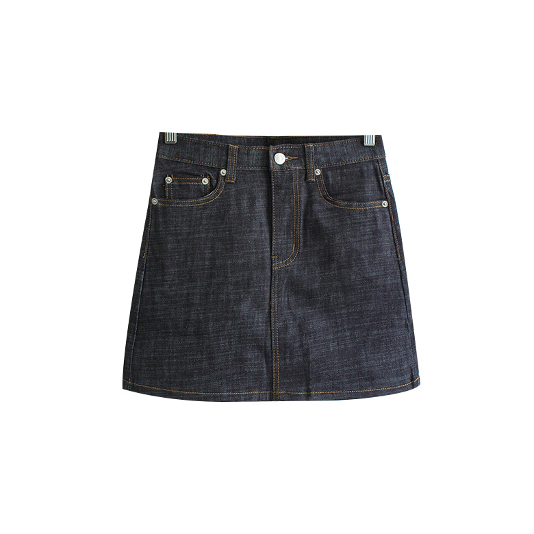 Diego stitched denim mini skirt