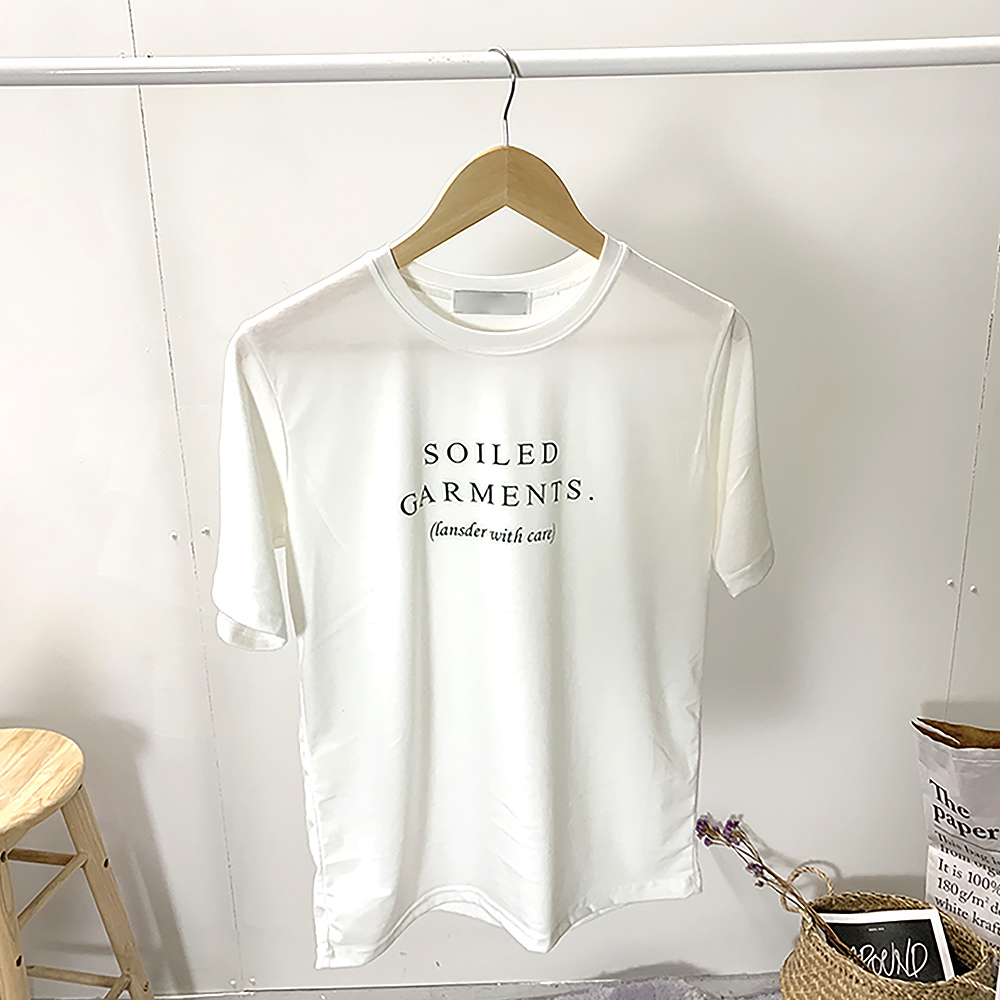 Solid lettering cotton tee