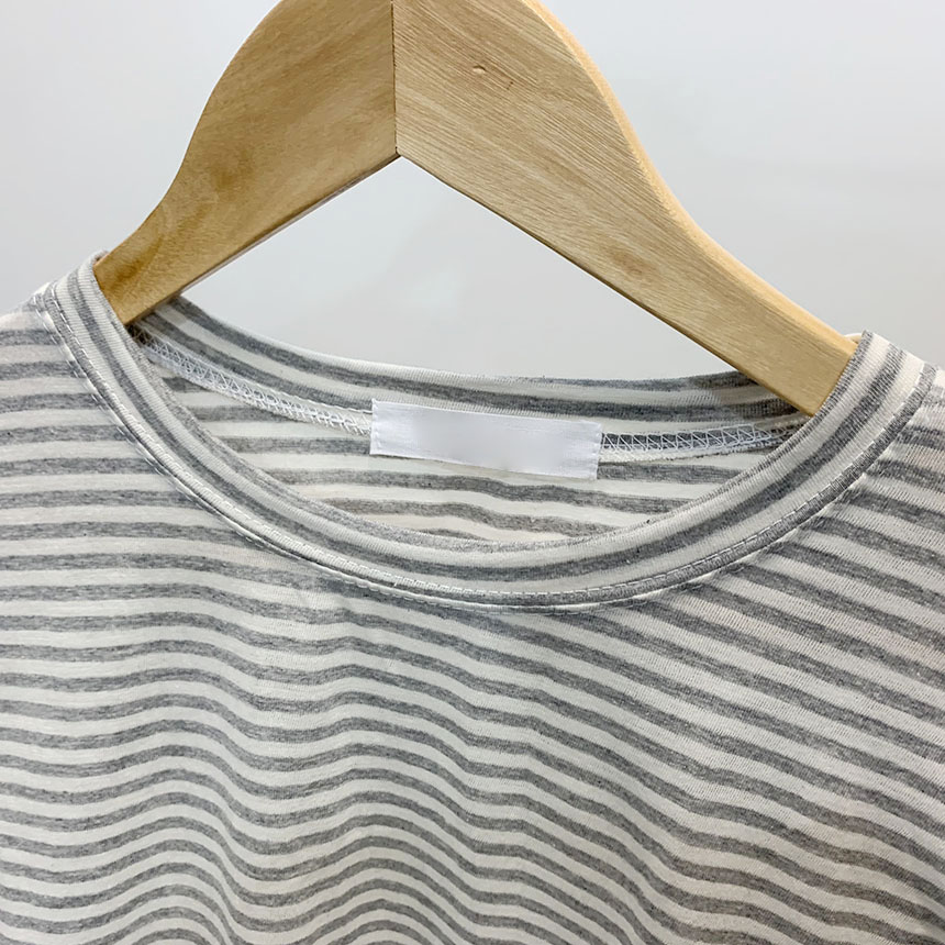 Bennett's striped round neck long sleeve t-shirt