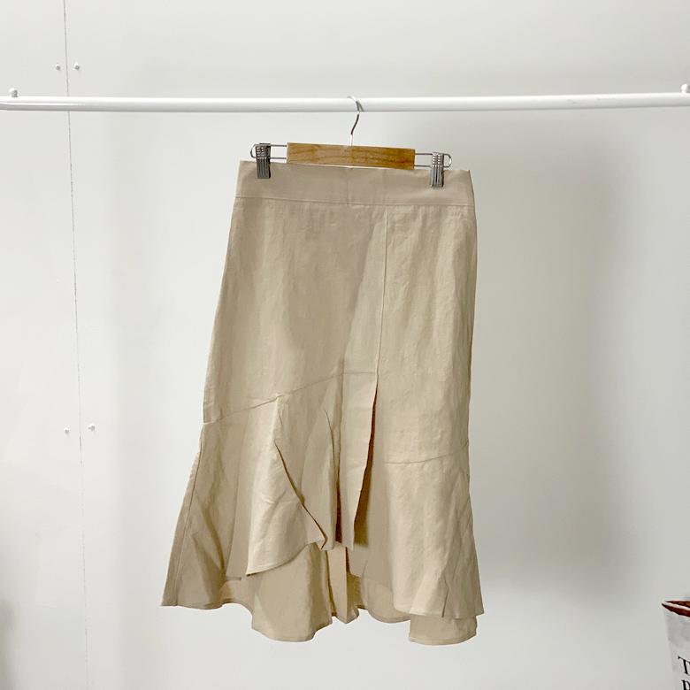 Lulu frill long skirt