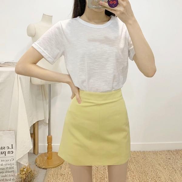 Pretzels color mini skirt