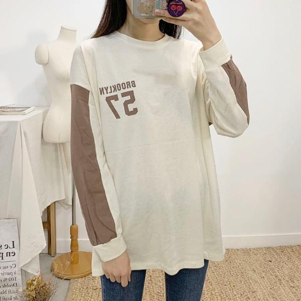 Brooklyn color round neck long sleeve t-shirt