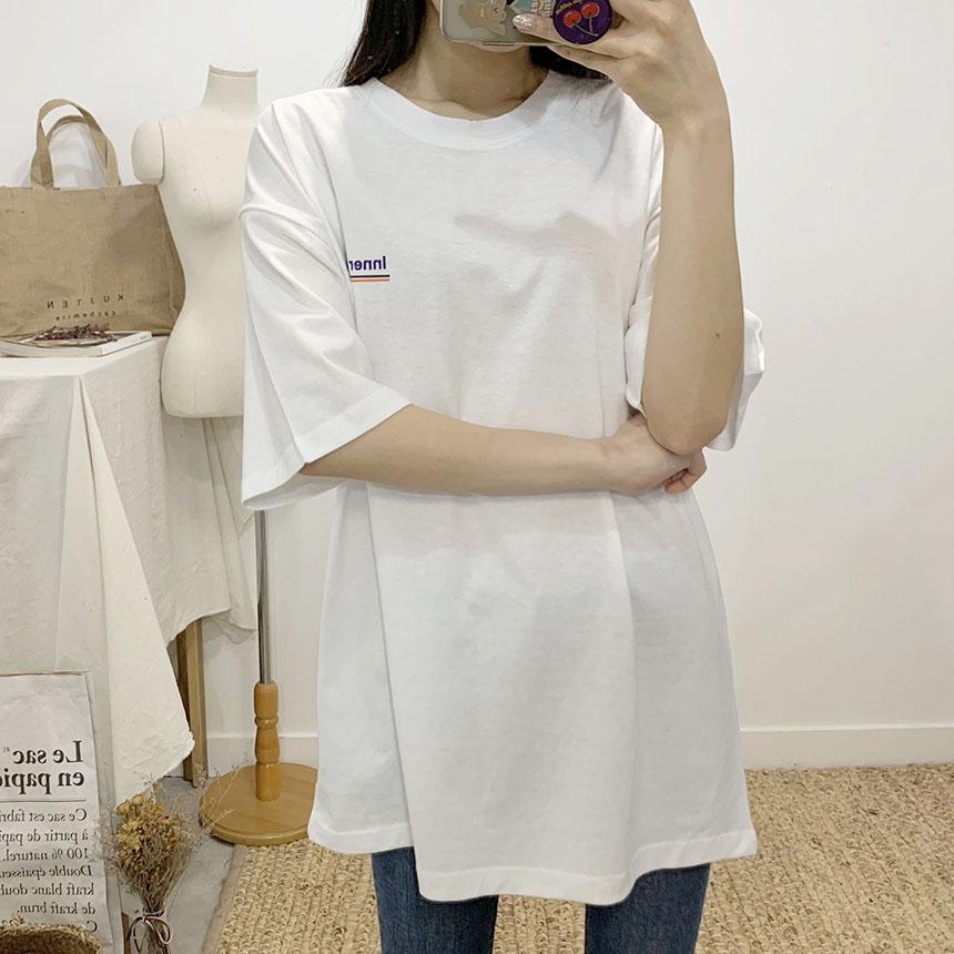Addiction printing round neck short sleeve t-shirt