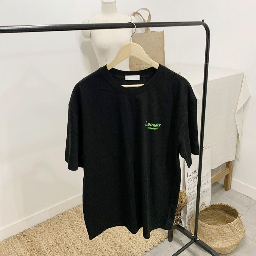 Lundry Printing Round Neck Short Sleeve T-Shirt