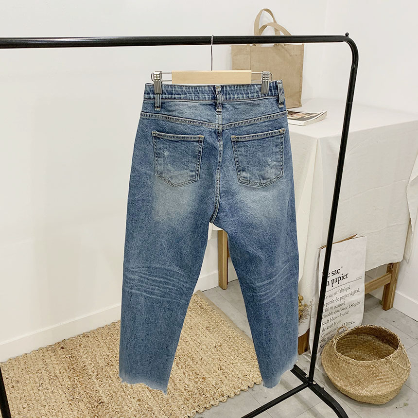 Jutu's unscrew straight-fit denim pants