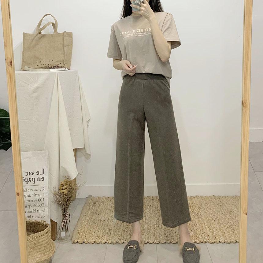Deria Wide Banding Knit Pants
