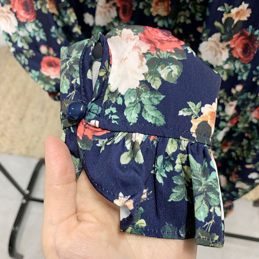 Hayden frill flower mini dress 2colors