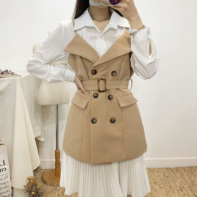 Cellie Trench Bustier Mini Dress