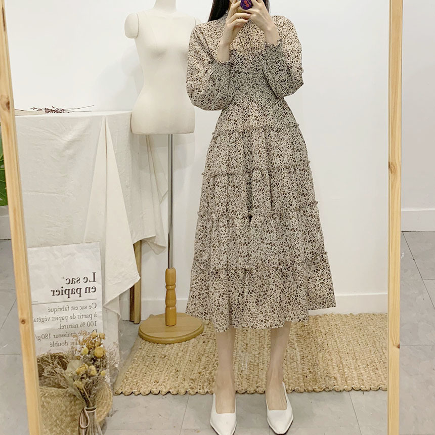 Anti Flower Smoke Long Dress