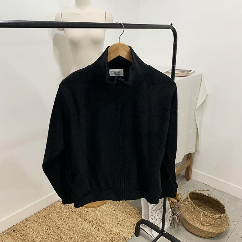 Flinnel long sleeve fleece zip 5colors