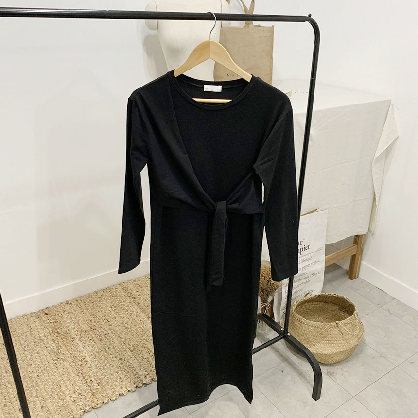 Persona diagonal bundle long dress