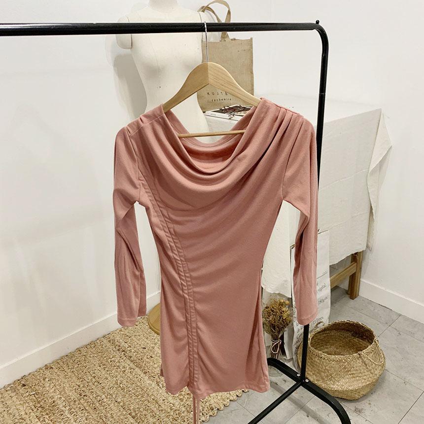 Maxi's Shirring Off Shoulder Mini Dress