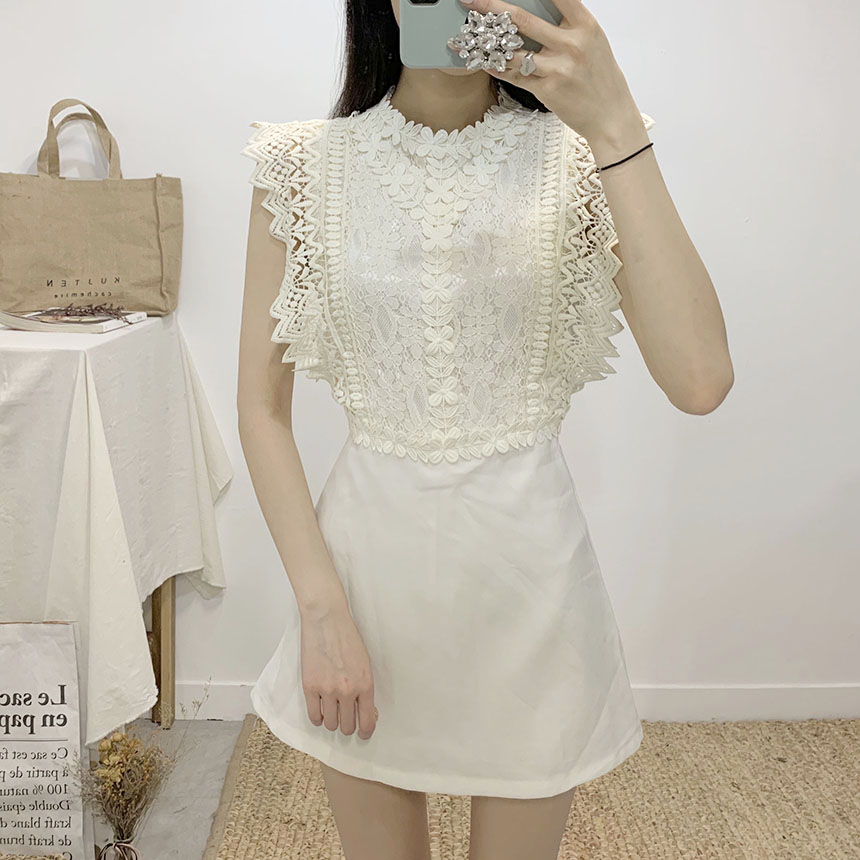 Rachata lace sleeveless mini jumpsuit