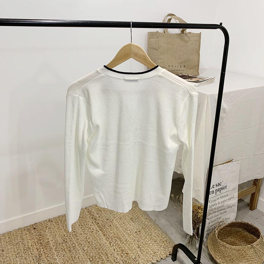 Dunskin Color V Neck Long Sleeve Cardigan