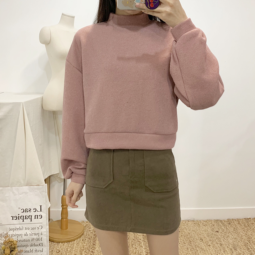Charlene Half-neck Puff Long Sleeve One-to-One 5colors
