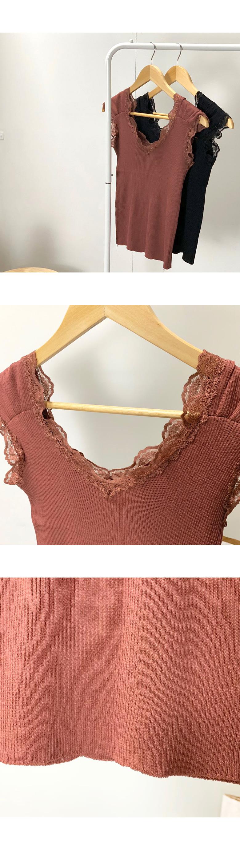 Shoulder V-neck lace