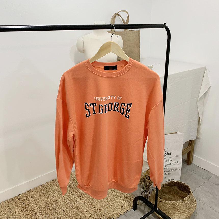 STEE Lettering Round Neck sweat shirt