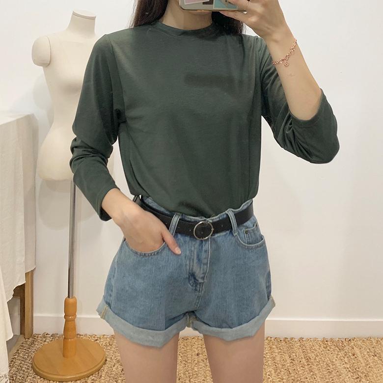 Moss Daily plain round T-shirt
